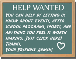 Help by submitting activites, sports, events